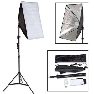 Studielys til digital og analog fotografering softbox med lampe model 1