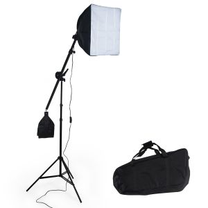 Studielys til digital og analog fotografering softbox med lampe model 2